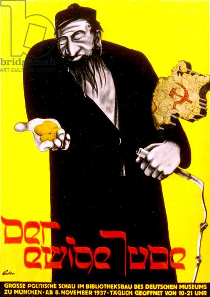 The Eternal Jew, 1937 (colour litho)