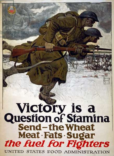 """Victory is a question of stamina"", 1917 (colour litho)"
