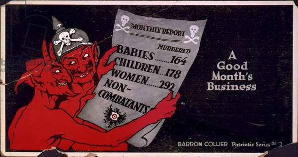 A Good Month's Business, c.1918 (colour litho)