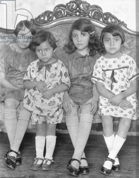 Four Girls, Mexico City, c.1926 (b/w photo)
