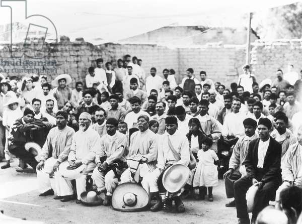 Meeting of the Campesinos, Jalapa, Mexico, 1927 (b/w photo)