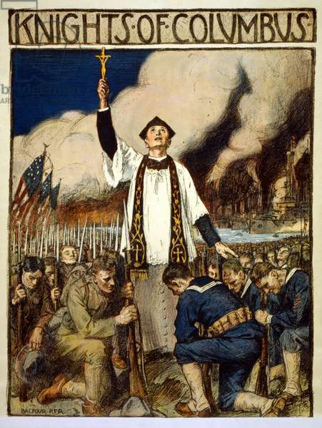 Knights of Columbus, 1917 (colour litho)