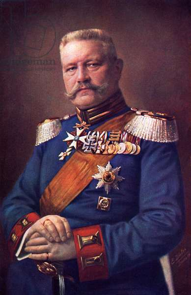 Paul von Hindenburg, 1915 (colour litho)