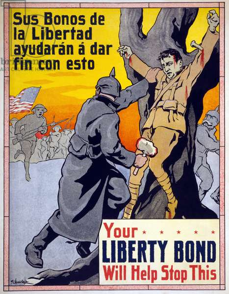 Your Liberty Bond Will Help Stop This, 1917 (colour litho)