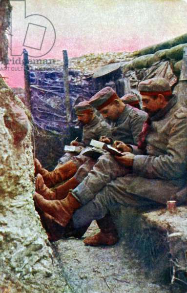Four German soldiers from the 7th Regiment (