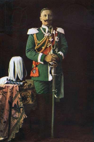 Kaiser Wilhelm II, 1915 (colour litho)
