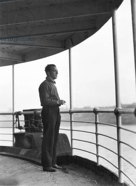 Vittorio Vidali during a trip near Moscow, Soviet Union, 1930 (b/w photo)