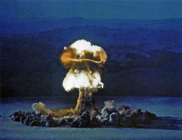 The Priscilla nuclear test, Nevada, June 25, 1957 (photo)