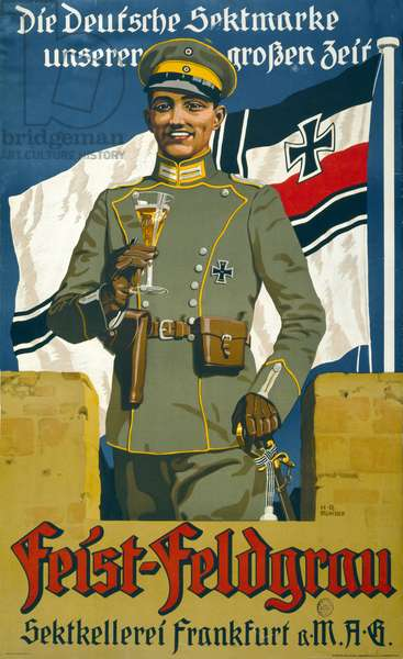 Poster advertising Feist Champagne, 1917 (colour litho)