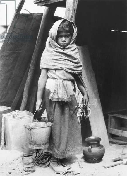 Girl carrying Water, Mexico, 1927 (b/w photo)