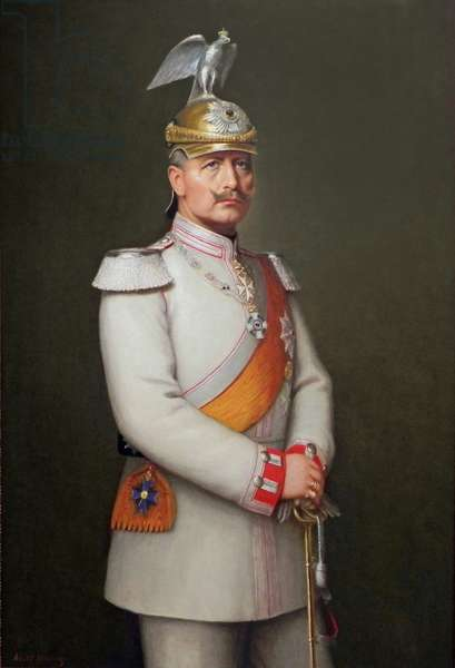 Kaiser Wilhelm II, 1910 (oil on canvas)