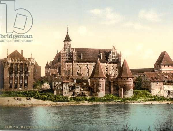 Marienburg, west side, Prussia, Germany, c.1900 (colour litho)