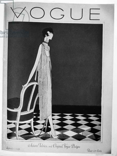 VOGUE MAGAZINE, 1925 Cover of the 1 September 1925 issue of the American edition of 'Vogue' magazine, featuring an illustration by Harriet Meserole.