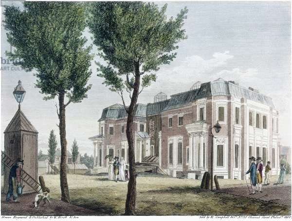 BIRCH: PHILADELPHIA, 1800 An unfinished house in Chestnut Street, Philadelphia. Line engraving by William Birch & Son, 1800. The mansion, which became known as 'Morris' Folly,' was designed by Pierre Charles l'Enfant for Robert Morris, but left unfinished when the owner's fortunes declined. It was demolished in 1800.