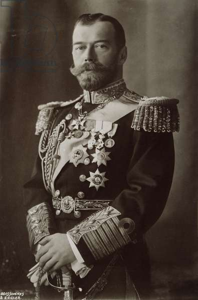 CZAR NICHOLAS II OF RUSSIA Russian name, Nikolay Aleksandrovich (1868-1918): photographed c.1910.
