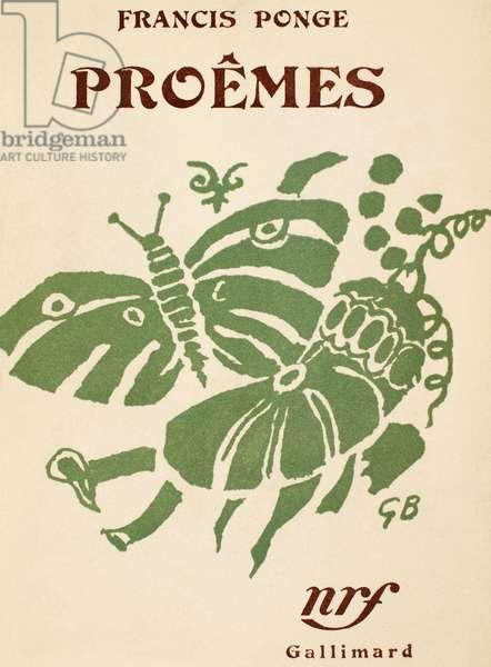FRANCIS PONGE: PROEMES Wrapper design by Georges Braque for Francis Ponge's 'Proêmes,' 1948.