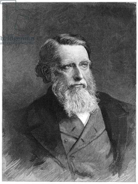 JOHN RUSKIN (1819-1900) English critic. Engraving, 1891.