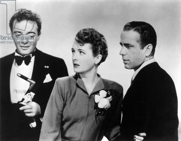 THE MALTESE FALCON, 1941 Film still with Peter Lorre, Mary Astor and Humphrey Bogart.