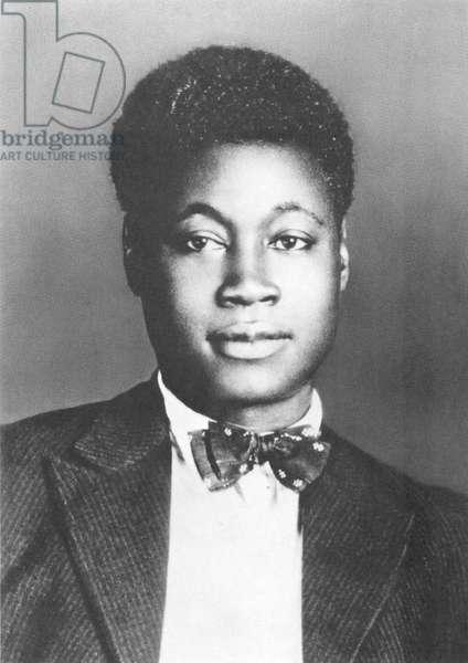CLAUDE McKAY (1890-1948) American (Jamaican-born) writer; photographed in 1920.