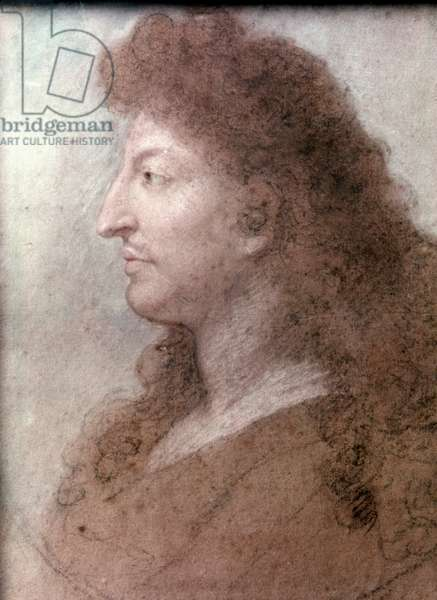 LOUIS XIV (1638-1715) King Louis XIV of France. Pastel by Charles Le Brun, c.1675.