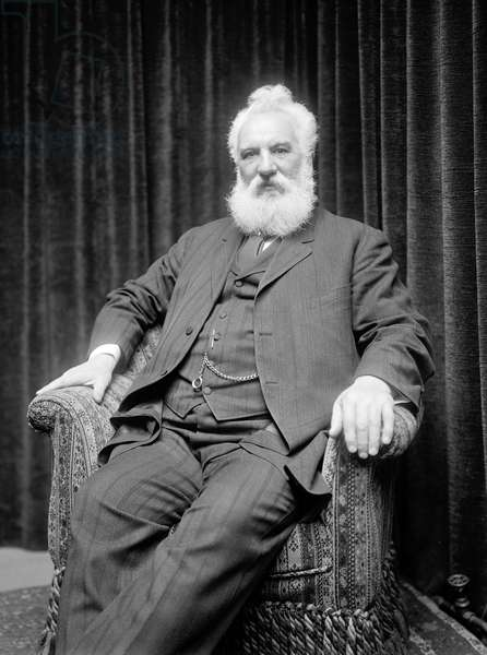 ALEXANDER GRAHAM BELL (1847-1922) American (Scottish-born) teacher and inventor. Photograph, c.1910-1920.