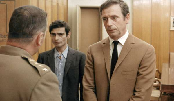 FILM: Z, 1969 Yves Montand, right, as the Deputy in the French poltical thriller 'Z' directed by Costa Gavras, 1969.