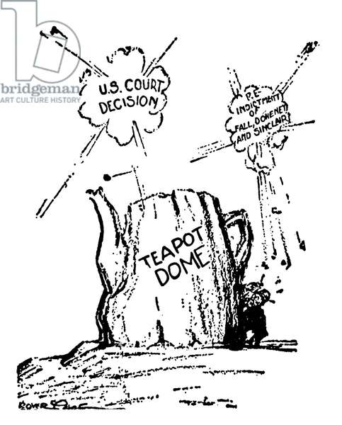 TEAPOT DOME SCANDAL,1924 A 1924 American newspaper cartoon on the Teapot Dome investigations.