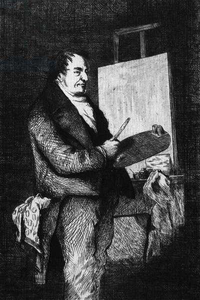 J.M.W. TURNER (1775-1851) Joseph Mallord William Turner. English painter. Etching, 19th century.