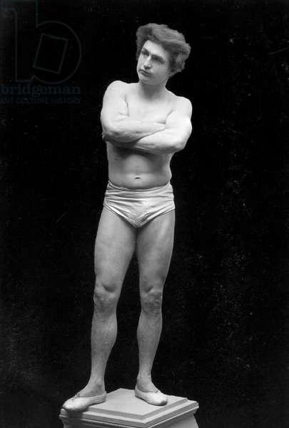BERNARR MACFADDEN (1868-1955). American physical culturist. Photographed c.1895.