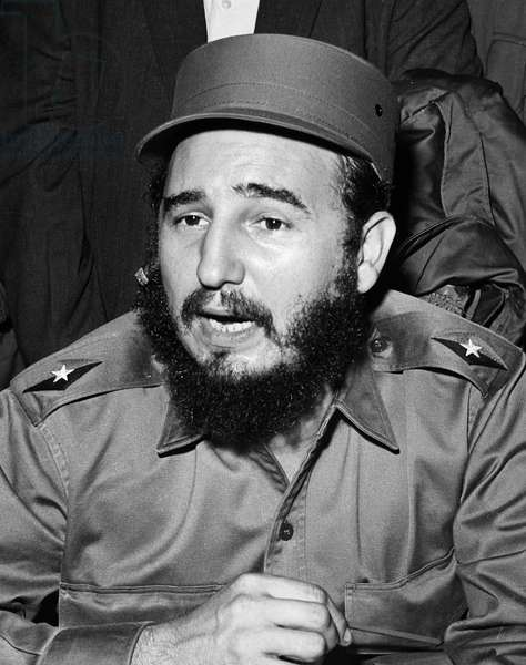 FIDEL CASTRO (1926- ) Cuban revolutionary leader. Undated photograph.