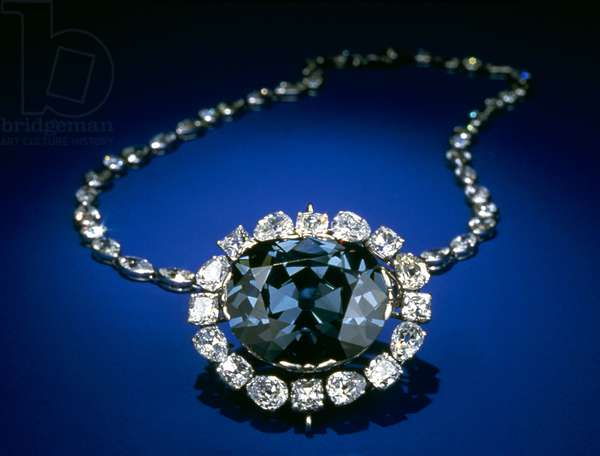 HOPE DIAMOND The famous blue, 45.52 carats, Hope Diamond, named after the Hope family, that owned the diamond in the 19th century.
