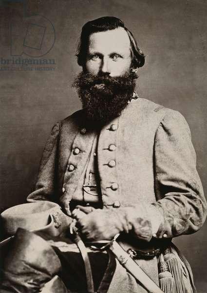 JAMES E. B. 'JEB' STUART (1833-1864). American army officer: original cabinet photograph.