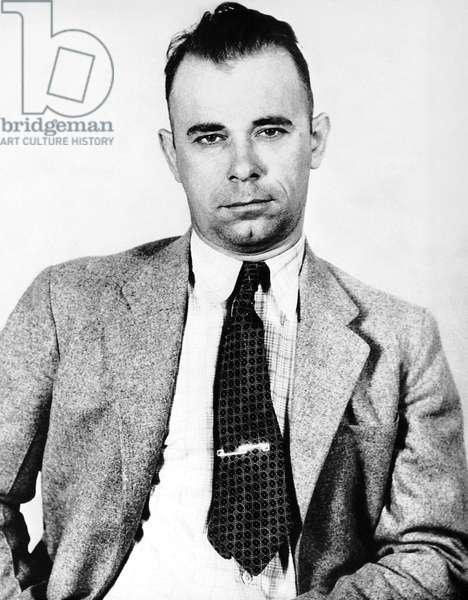 JOHN DILLINGER (1903-1934) American bank robber. Photographed in 1933.