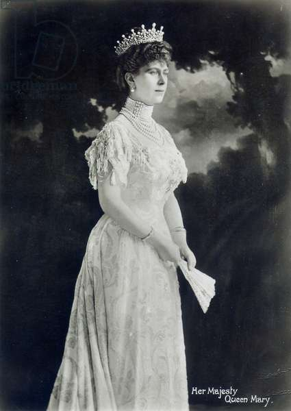 QUEEN MARY (1867-1953) Victoria Mary of Teck, Queen consort of King George V of Great Britain. Photograph, 1900.