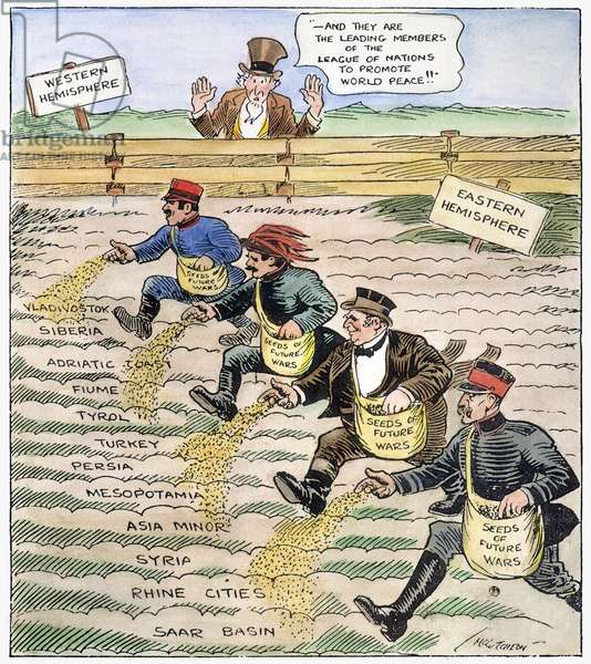 CARTOON: LEAGUE OF NATIONS, 1920. (Cartoon)