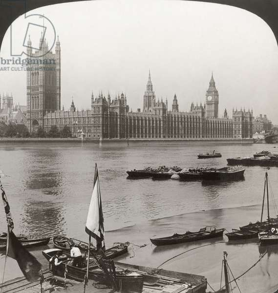 LONDON: PARLIAMENT HOUSE The Houses of Parliament with Big Ben. Photographed in 1905.