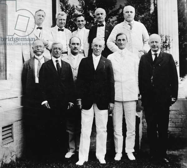 WILSON WITH CABINET, 1917 President Woodrow Wilson (1856-1924) with his cabinet, 1917.