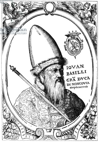 IVAN IV VASILEVICH (1530-1584) Called Ivan the Terrible. Ruler of Russia as grand duke (1533-1547) and czar (1547-1584). Italian engraving.