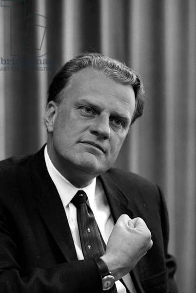 BILLY GRAHAM (1918- ) William Franklin Graham. American evangelist. Photographed by Warren K. Leffler, 1966.