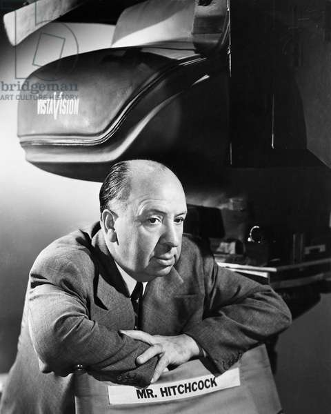 ALFRED HITCHCOCK (1899-1980) Alfred Joseph Hitchcock. English motion picture director. Photograph, c.1955.