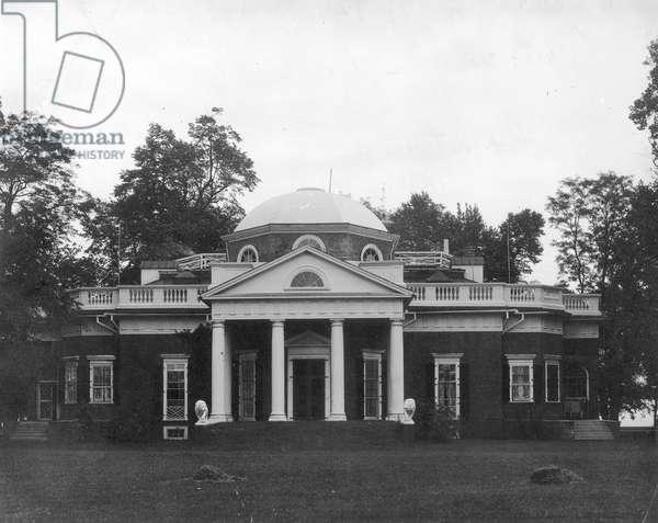 JEFFERSON: MONTICELLO Near Charlottesville, Virginia. The home of Thomas Jefferson.