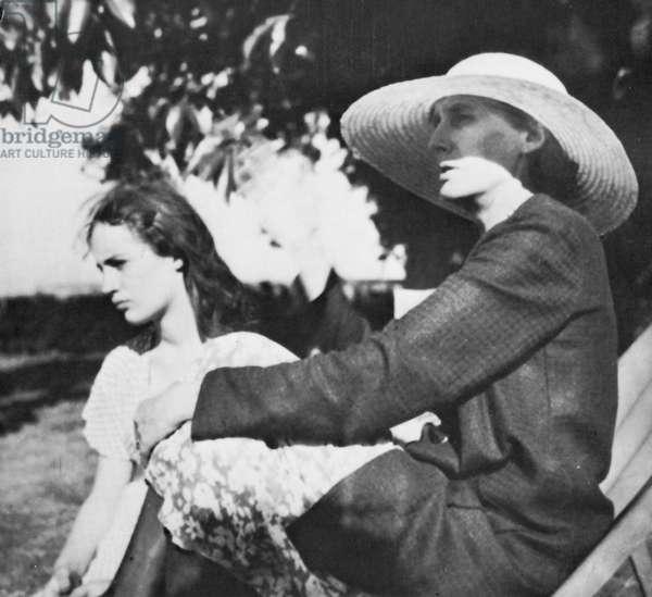 VIRGINIA WOOLF (1882-1941) with her niece Angelica Garnett (née Bell) in 1934.