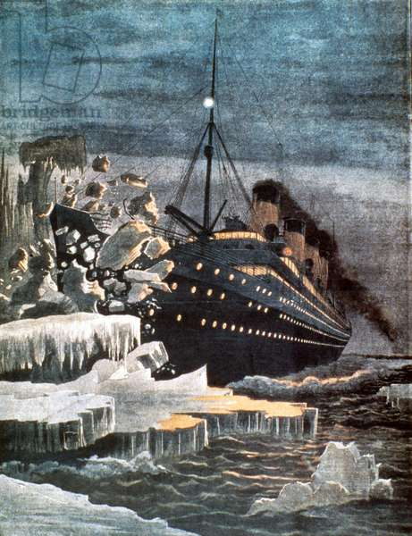 SINKING OF THE TITANIC April 14-15, 1912: contemporary illustration.