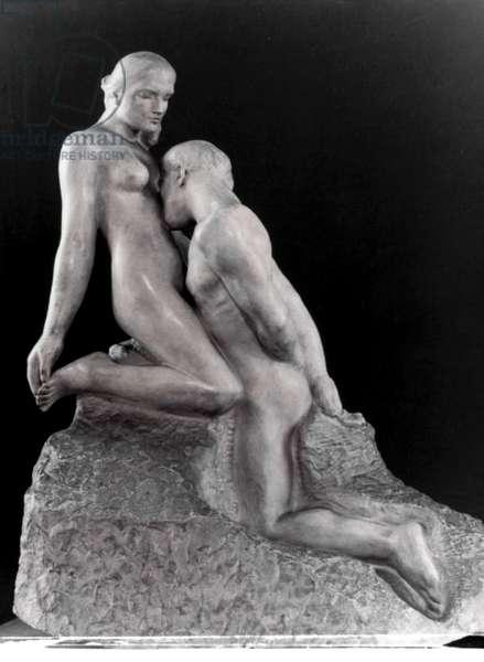 RODIN: L'ETERNELLE IDOLE The Eternal Idol. Marble by Auguste Rodin.