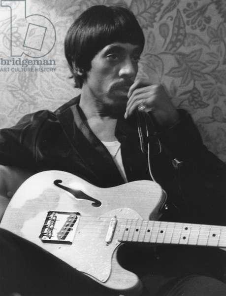 IKE TURNER (1931-2007) American musician Ike Turner in his Las Vegas hotel room in 1969.