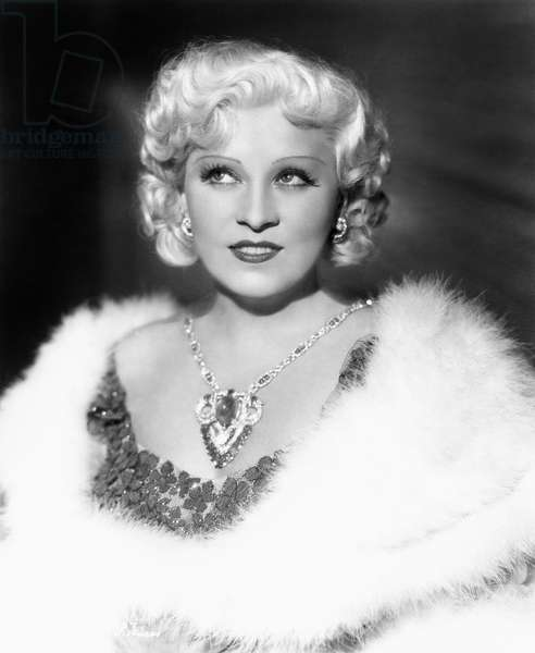 MAE WEST (1892-1980) American actress. Photographed c.1946.