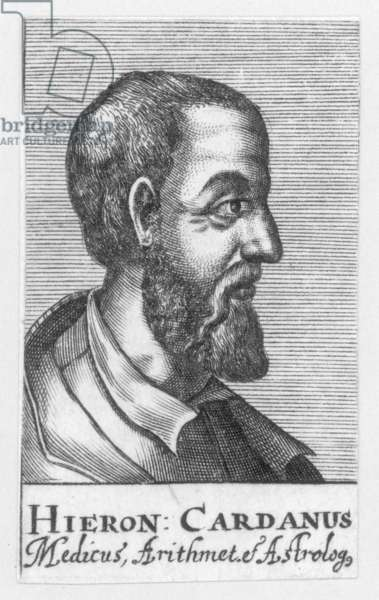 GERONIMO CARDANO (1501-1576). Italian mathematician, physician and astrologer. Copper engraving, 17th century.