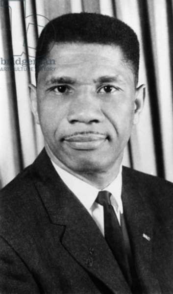 MEDGAR EVERS (1925-1963) American civil rights activist. Photograph, 1963.