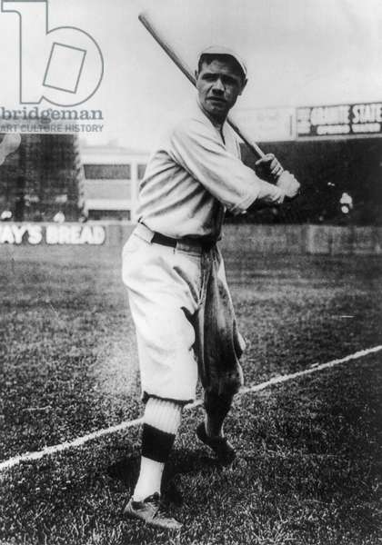 GEORGE H. RUTH (1895-1948) Known as Babe Ruth. American professional baseball player. Photograph, c.1920.