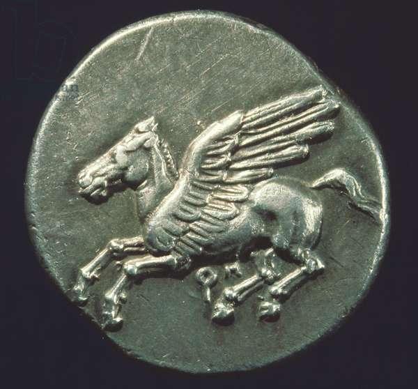 PEGASUS, 4th CENTURY B.C On a Greek coin.